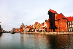 A morning view of the old town of Gdansk, Poland stock photos