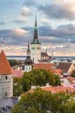 Morning view of old town Tallinn, Estonia Royalty Free Stock Image