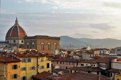 Morning view over Florence. View from the lookout tower Royalty Free Stock Photos