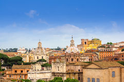 Morning view over roofs of Rome Royalty Free Stock Images
