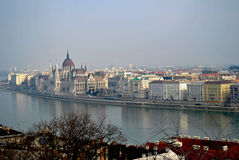 Morning view over the rooftops of Budapest Stock Image