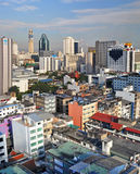 Morning view over the Sukhumvit Area of Bangkok Royalty Free Stock Photos