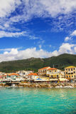 Morning view of Parga, Greece Stock Images