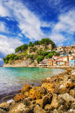 Morning view of Parga, Greece Royalty Free Stock Image
