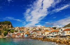 Morning view of Parga, Greece Royalty Free Stock Photography