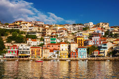 Morning view of Parga, Greece Stock Photos