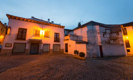 Morning view of picturesque street in  Ronda,  Spain Stock Photo