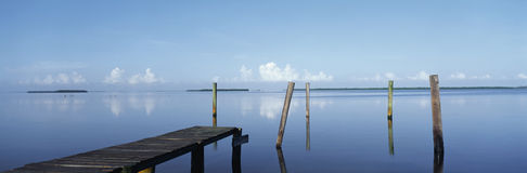 Morning view of Pine Island royalty free stock photos