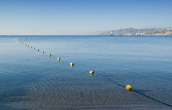 Morning view on the Red Sea from Eilat, Israel Stock Image