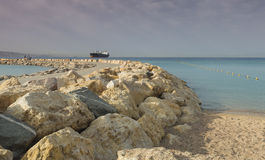 Morning view on the Red sea, Israel Royalty Free Stock Photography
