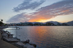 Morning view on resort hotels in Eilat, Israel Stock Photography