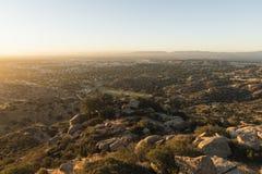 Los Angeles West San Fernando Valley Sunrise Royalty Free Stock Photos