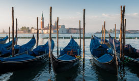 A morning view of San Giorgio Maggiore church in Venice, Italy Royalty Free Stock Photos