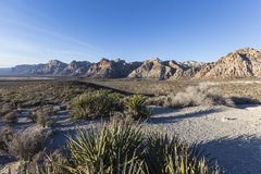 Red Rock Canyon National Conservation Aera Nevada. Morning view at scenic loop overlook in Red Rock Canyon National Conservation area near Las Vegas Nevada Royalty Free Stock Images