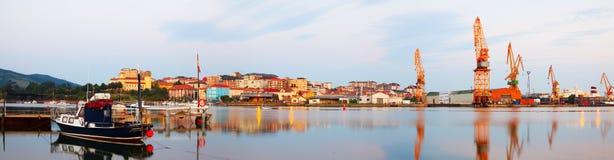 Morning view of   seaport. Santander, Spain Royalty Free Stock Image