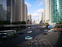 The morning view of shanghai Royalty Free Stock Image