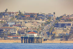 Morning view of the shore near Manhattan Beach and Redondo Beach Stock Photo