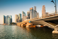 Morning View of Singapore Central Business District (CBD). Royalty Free Stock Image