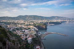 Morning view of Sorrento town Stock Image