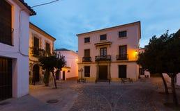 Morning view of street. Ronda Royalty Free Stock Photo