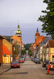Morning view of streets in Fredericia city, Denmark Royalty Free Stock Image