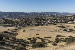 Simi Valley Suburban Fields in Ventura County California Royalty Free Stock Image