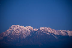 Morning view before sunrise of Himalayan mountains Royalty Free Stock Photos