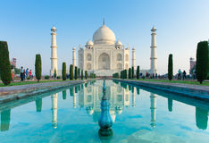 The morning view of Taj Mahal Royalty Free Stock Photos