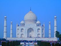 Morning view Taj Mahal stock photo