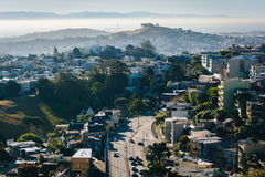 Morning view from Tank Hill Park, in San Francisco  Royalty Free Stock Photo