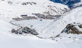Morning view of Tignes, France. Stock Images