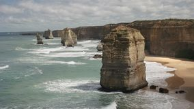 Morning view to the west of the twelve apostles on the great ocean road stock video
