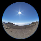 Morning fisheye view from the top of Haleakala Stock Photos