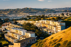 Morning view from Twin Peaks, in San Francisco  Stock Photography
