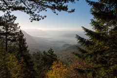 Morning view on Vipava valley. In Slovenia Royalty Free Stock Photos