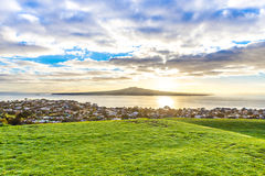 Morning view on a volcanic island Royalty Free Stock Images