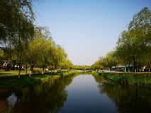 The morning view of wuhu City. The beautiful morning view of wuhu city which taken in the center part stock images
