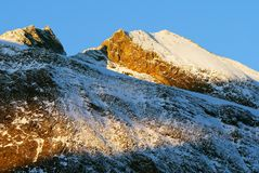 Morning view of Zillertal Alpen Royalty Free Stock Photo