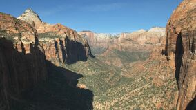 A morning view of zion national park from canyon overlook in utah
