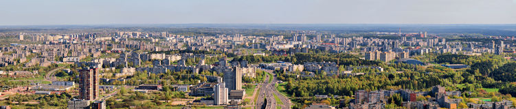 Morning in the Vilnius city Royalty Free Stock Photography