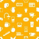 Morning wake up theme yellow seamless pattern Royalty Free Stock Photos