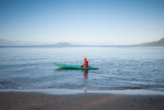 Morning walk at the beach. Royalty Free Stock Images
