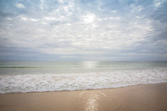 Morning walk on the seafront in Jeffreys Bay Royalty Free Stock Photo