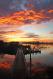Morning Walk, Steveston Harbor Royalty Free Stock Image