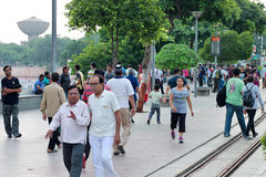 Morning walkers, Kankaria Lakefront - India Stock Photo