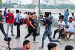 Morning walkers, Kankaria Lakefront - India Stock Image