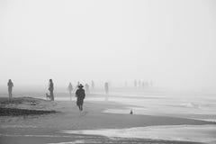 Morning walkers in Ocean Beach, San Francisco Stock Photos