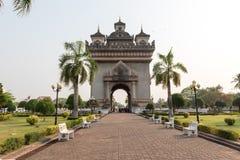 War momument in Vientiane Laos. Morning at war monument in Vientiane Laos Royalty Free Stock Images