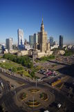 Morning in Warsaw. Warsaw city centre with highest buildings in Poland Stock Image