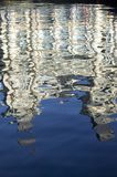 Morning water reflections of building at Port Vell, Old Harbor, Barcelona, Spain Stock Image